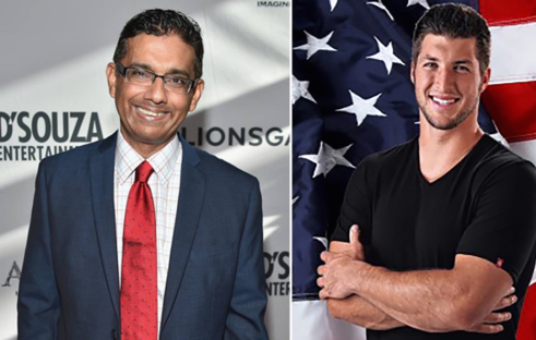 Tim Tebow at event with Dinesh D'Souza: Use social media less, do more for America